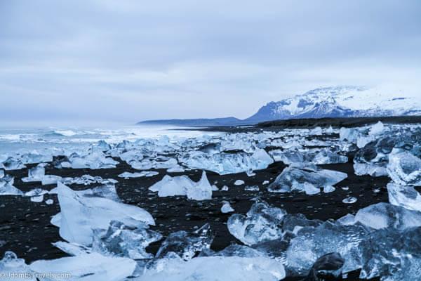 Bãi biển 'kim cương' tuyệt đẹp ở Iceland