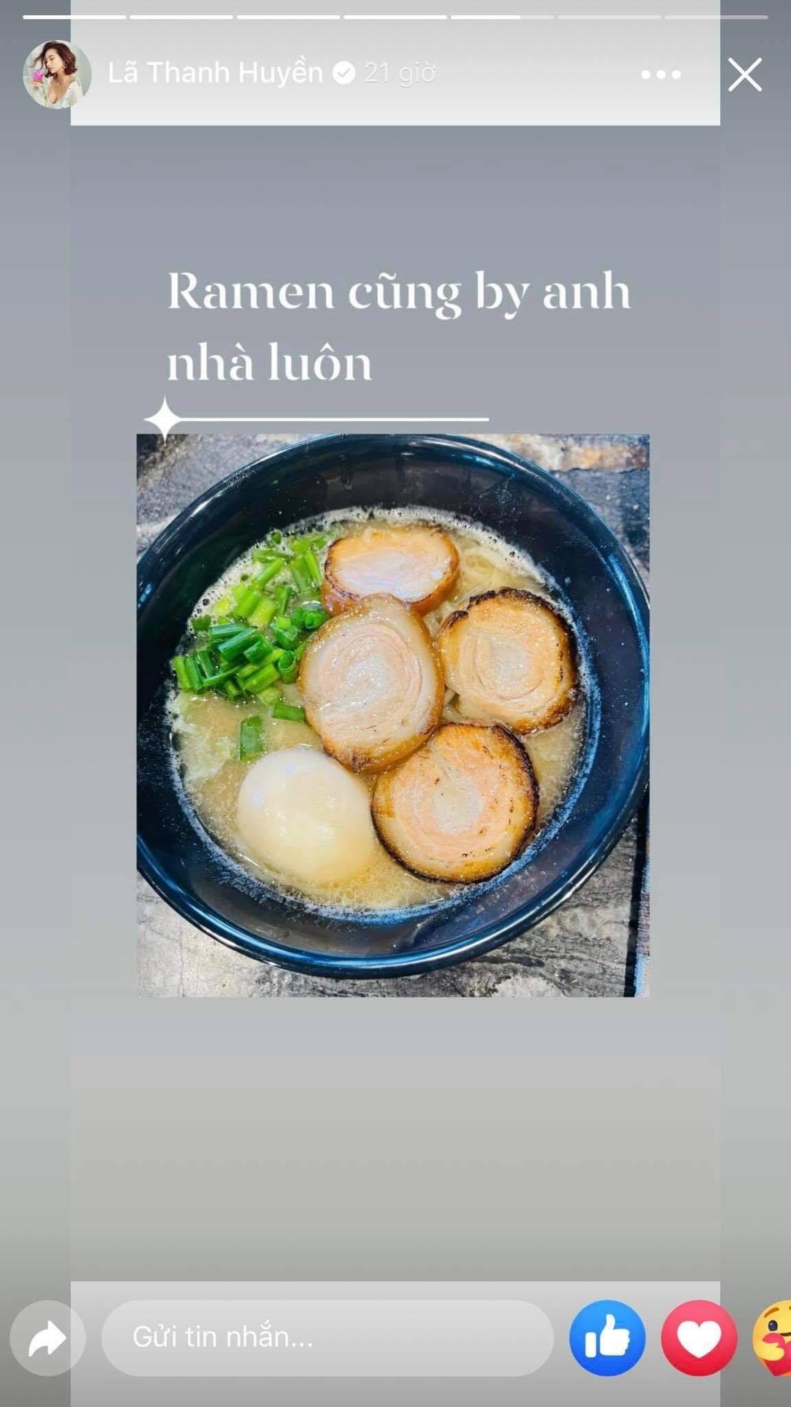 """Lã Thanh Huyền """"số hưởng' khi được ông xã đại gia đích thân vào bếp nấu nướng"""