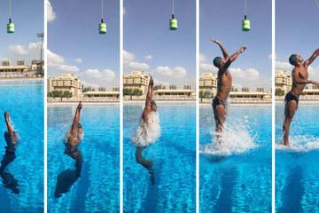 Cú nhảy cực phẩm lập kỷ lục bật khỏi mặt nước ở mức cao nhất