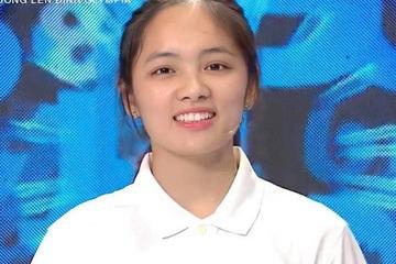 """Học vấn """"khủng"""" và nhan sắc xinh tươi của nữ sinhđầu tiên giành vòng nguyệt quế Olympia 2021"""