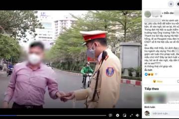 """Có hay không vụ Phó chánh Thanh tra ở Hà Nội """"chơi mẹo"""" né thổi nồng độ cồn?"""