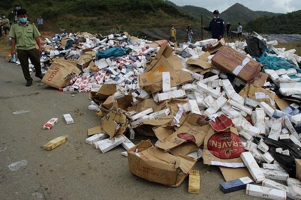 Khánh Hòa: Tiêu hủy gần 35.000 bao thuốc lá nhập lậu