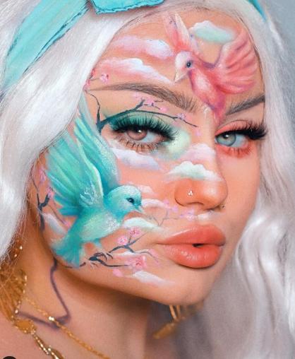 Độc đáo những bức tranh trên khuôn mặt người