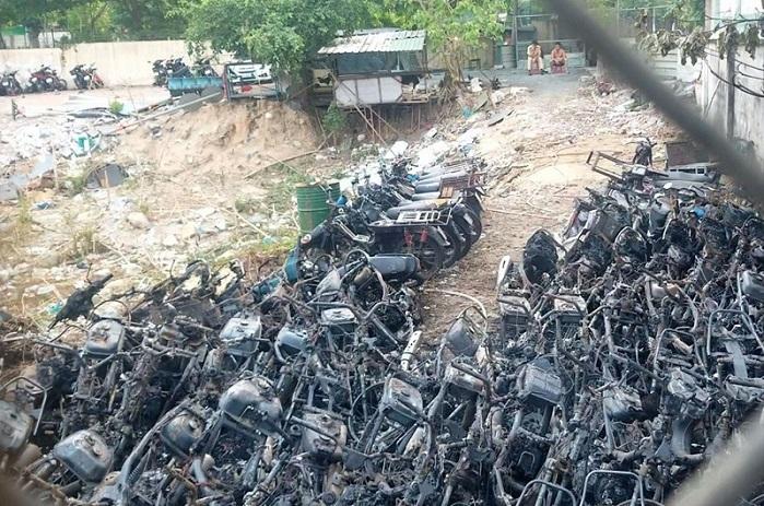 Cháy bãi giữ xe của Cảnh sát giao thông TP Thủ Đức: Ai phải bồi thường?