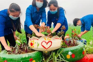 Hà Tĩnh: Thanh niên Đức Thọ biến bãi rác tự phát thành vườn hoa