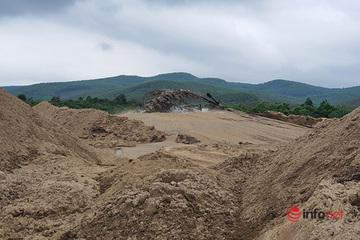Bãi tập kết cát 'khủng' trái phép trong rừng ở Quảng Trị bị đình chỉ hoạt động