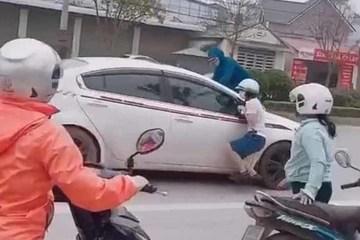 Clip vợ nhảy lên capo đập vỡ kính lái, đánh ghen ở Vĩnh Yên: Công an nói gì?