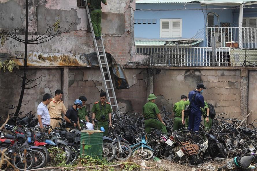 Vụ cháy bãi giữ xe của CSGT TP Thủ Ðức thiệt hại ra sao?