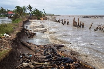 Sạt lở bờ biển khiến sinh kế người dân Kiên Giang gặp khó khăn