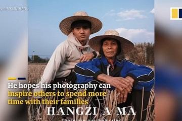 Trung Quốc: Cháu trai biến bà thành người mẫu 'bìa tạp chí' gây sốt trên mạng