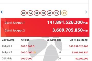 Vietlott 'nổ' giải khủng, hơn 141 tỷ đồng thuộc về chủ nhân ở TP Hồ Chí Minh