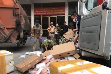 Quảng Ninh tiêu hủy hơn 1 tấn chân gà tẩm ướp không rõ nguồn gốc