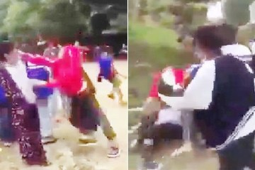 """Nghệ An: Nhóm nữ sinh cấp 3 đánh túi bụi em cấp 2 để """"dằn mặt"""""""