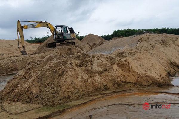 Bãi tập kết cát trái phép,Quảng Trị,Đình chỉ hoạt động,Thanh tra,Sở TN&MT