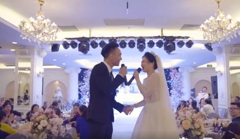 Cô dâu chú rể Hà Nội song ca ngày cưới 'chất lừ' như ca sĩ chuyên nghiệp