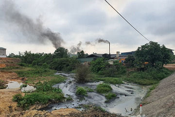 Huế: Sở TN&MT lập đoàn kiểm tra các cơ sở sản xuất giấy nhả khói, xả thải gây ô nhiễm
