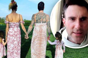 """Trưởng nhóm Maroon 5 """"gây sốc"""" mặc váy hồng, hóa ra các ông bố có thể làm những điều tuyệt vời hơn tưởng tượng cho con gái"""