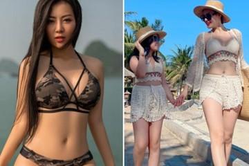 """Thanh Hương khoe khoảnh khắc đi biển cùng con, fan """"đã mắt"""" ngắm sắc vóc bà mẹ 2 con"""