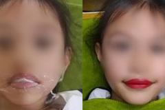 Nhận 'gạch đá' vì mang con 5 tuổi ra xăm môi để câu khách