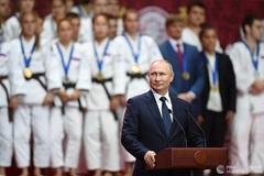 Ông Putin bất ngờ xuất hiện trên poster giải vô địch Sambo ở Trung Phi