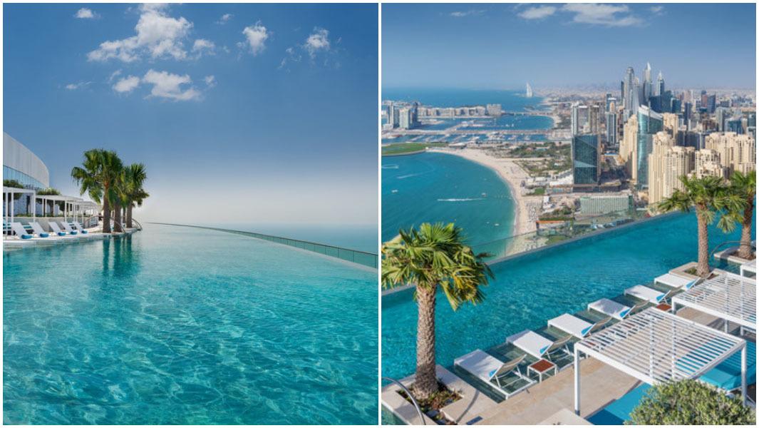 Chiêm ngưỡng bể bơi vô cực cao nhất thế giới ở Dubai