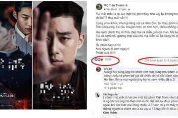 """""""Lật Mặt"""" của Lý Hải mới ra mắt, hành động bất ngờ này của MC Trấn Thành khiến cộng đồng mạng được phen tranh cãi"""