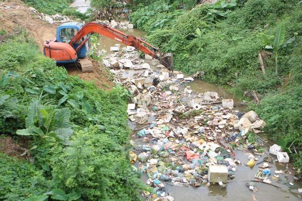 Bảo vệ môi trường,Rác thải,sông Ngàn Phố,dọn rác