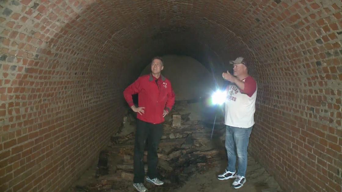 Phát hiện đường hầm thế kỷ 19 bên dưới căn nhà cổ