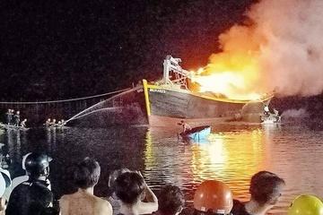 Hai tàu cá ở Vũng Tàu bị thiêu rụi, thiệt hại gần 3 tỷ đồng