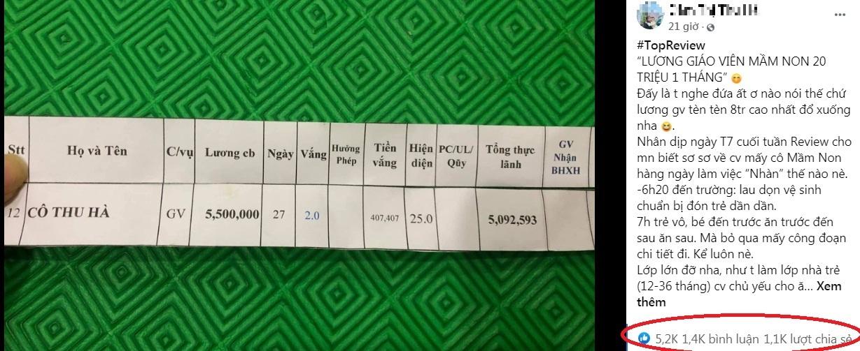 Tâm tư cô giáo mầm non khi nghe tin lương 20triệu/ tháng khiến dân mạng thấu cảm, sẻ chia