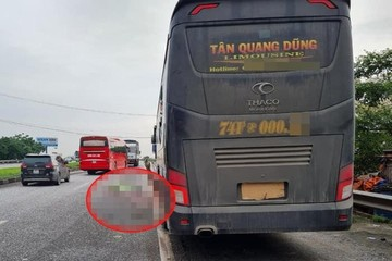 Mở cốp xe kiểm tra lúc rạng sáng, phụ xe khách bị container tông tử vong