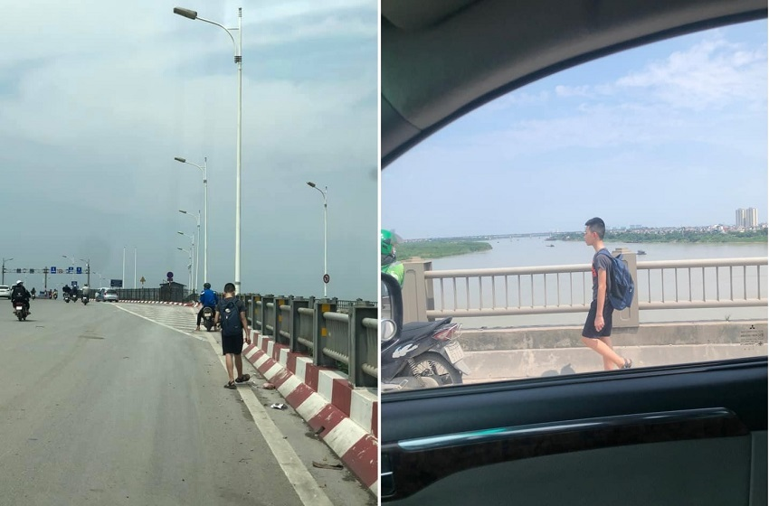Phạt con đi bộ trên cầu Vĩnh Tuy dưới trời nắng, người mẹ bị dân mạng chê trách ngược đãi