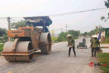 Quốc lộ nhựa đường 'nhão choẹt' ở Nghệ An đang được khắc phục