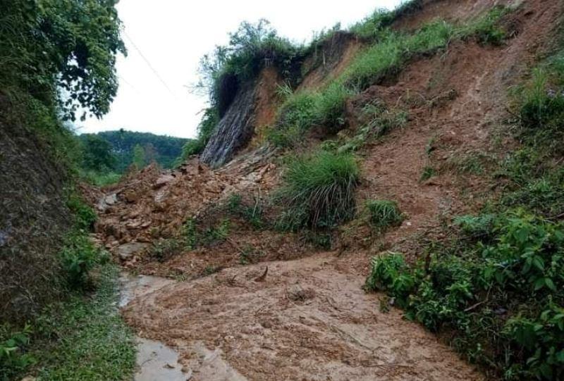 Hà Tĩnh: Mưa lớn gây ngập úng, sạt lở đất tại huyện miền núi Hương Sơn