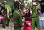Hà Nội: Công an vào cuộc xác minh clip người phụ nữ đầu trần la hét, thách thức công an giữa phố