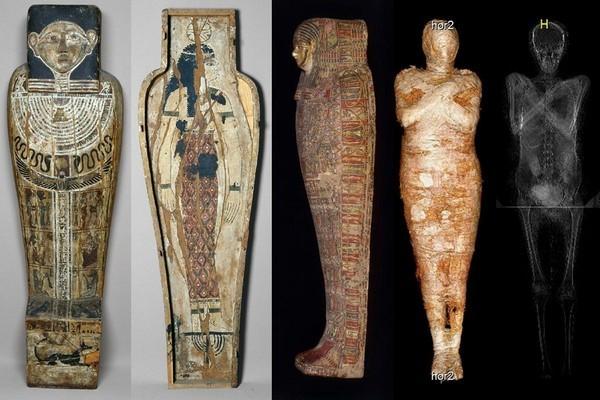Phát hiện xác ướp Ai Cập cổ đại đang mang thai