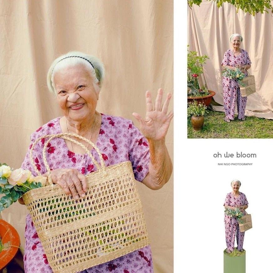 Cô gái gây xúc động với bộ ảnh những cụ bà rạng rỡ ở viện dưỡng lão