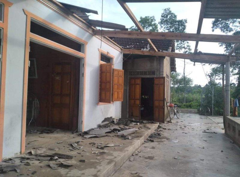 2 ngày, lốc xoáy làm tốc mái 250 ngôi nhà ở miền núi Hà Tĩnh