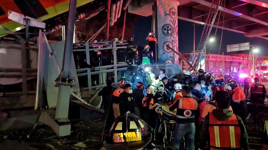 Khoảnh khắc vụ sập đường sắt trên cao tại Mexico, số người thiệt mạng tăng lên 23