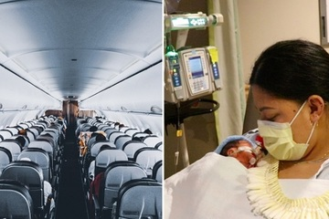 Hi hữu người phụ nữ không biết đang mang thai và sinh con khi đi máy bay