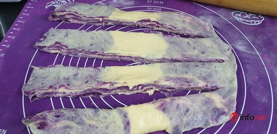 bánh mì khoai lang tím,cách làm bánh mì,vào bếp cùng bạn