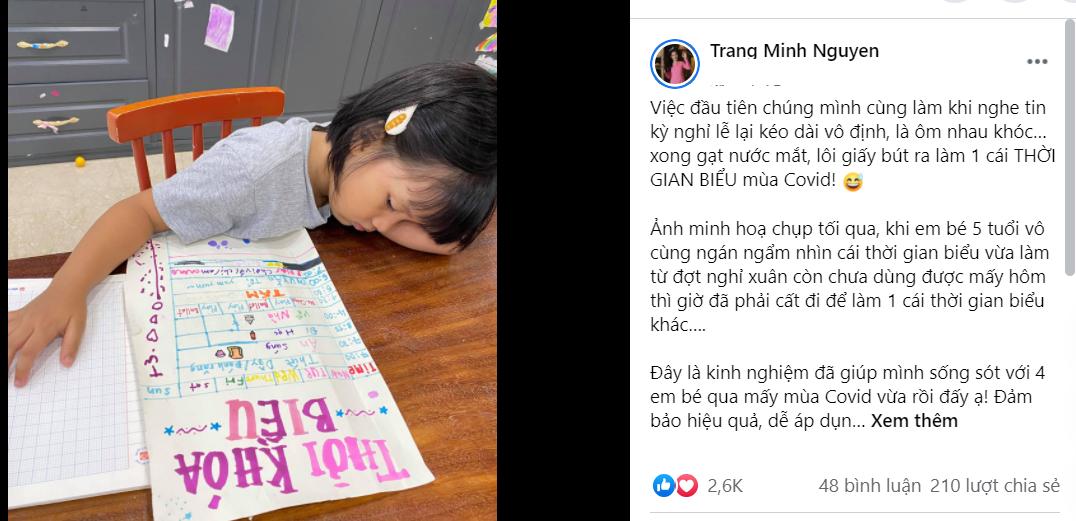 BTV Minh Trang,cách lập thời gian biểu,cách dạy con