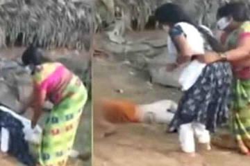 Đau lòng con gái cố đưa nước cho người cha mắc Covid-19 nhưng bị ngăn cản