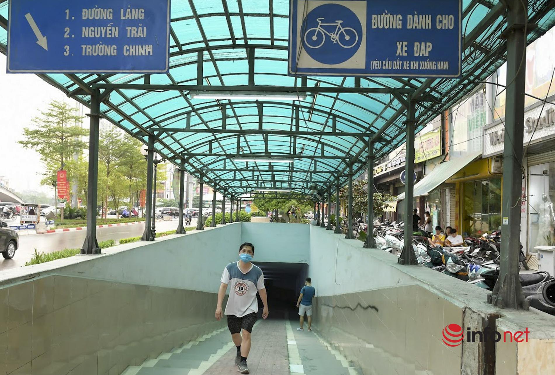 Hà Nội đóng cửa công viên, người dân ào xuống hầm đi bộ tập thể dục