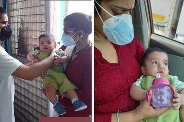 Bố mẹ đều mắc Covid-19, cậu bé 6 tháng tuổi nhận được sự hỗ trợ đặc biệt