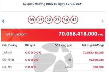 Trúng Jackpot hơn 70 tỷ đồng, một người ở Cần Thơ đã trở thành tỷ phú Vietlott