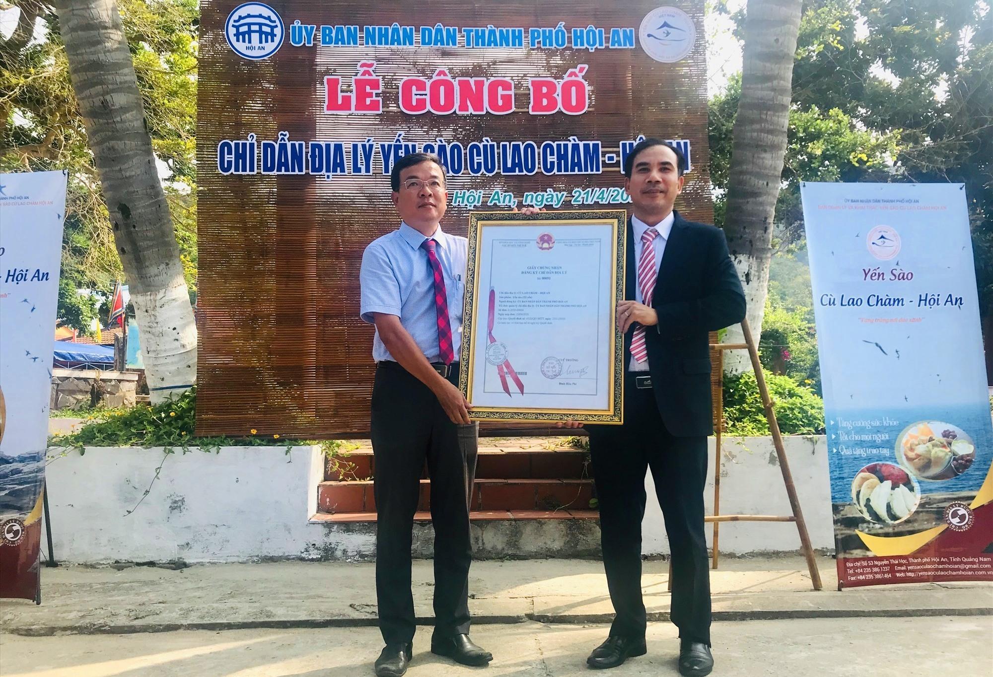 Công bố chỉ dẫn địa lý cho sản phẩm yến sào Cù lao Chàm - Hội An