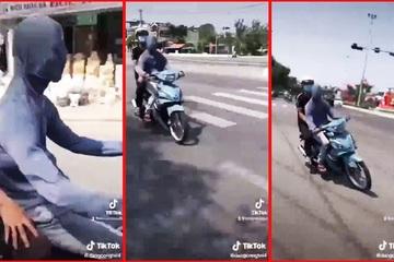 Xử phạt thanh niên 19 tuổi trùm kín mặt phóng xe máy trên đường phố Đà Nẵng