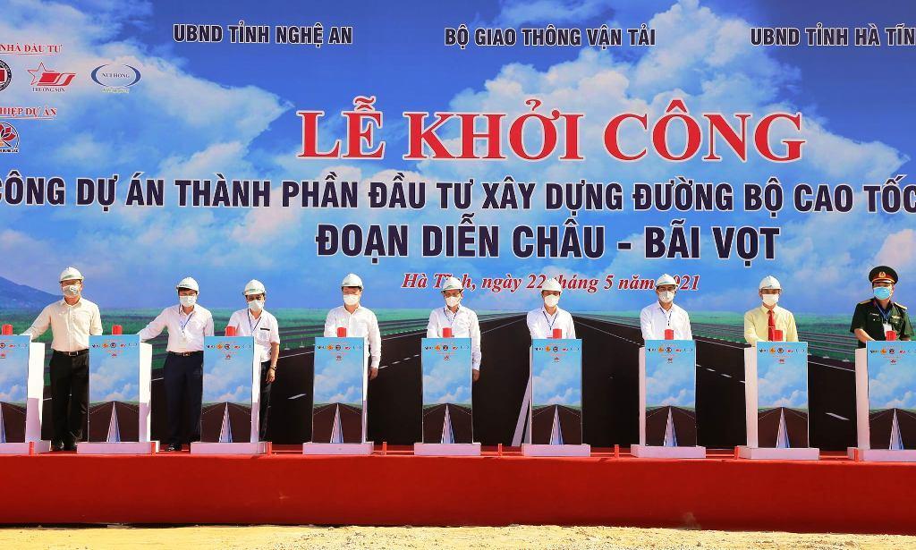 cao tốc Bắc - Nam,Nghệ An,Hà Tĩnh