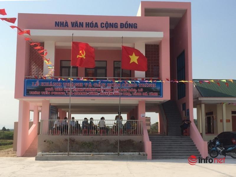 Hà Tĩnh: Nhà Văn hóa cộng đồng kết hợp tránh lũ - giải pháp phòng chống thiên tai rất hiệu quả